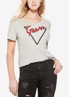 Guess Embellished Logo Graphic T-Shirt