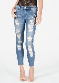 Guess Embellished Rip & Repair Curvy Skinny Jeans
