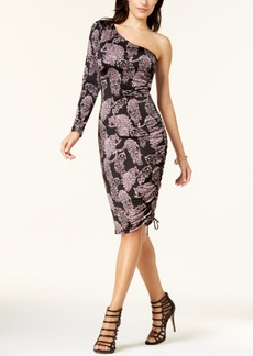 Guess Ember Printed One-Shoulder Dress