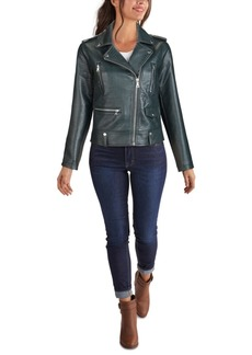 Guess Embossed Croc Faux-Leather Moto Jacket, Created for Macy's
