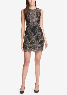 Guess Embroidered Bodycon Dress