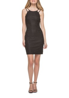 Guess Embroidered Halter-Front Dress