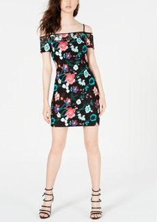 Guess Embroidered Lace Cold-Shoulder Dress