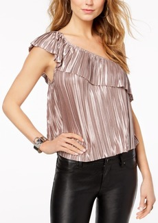 Guess Emerson Metallic One-Shoulder Top