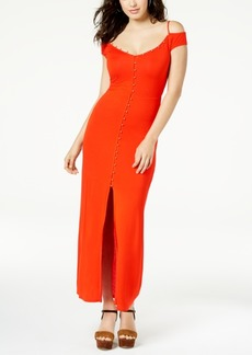 Guess Ensley Cold-Shoulder Maxi Dress
