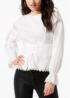 Guess Erin Lace-Up Corset Top