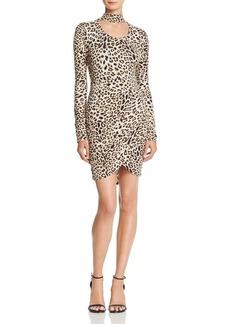 GUESS Evan Cutout Leopard Print Dress