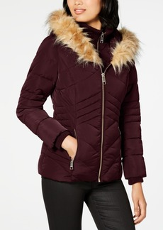 Guess Faux-Fur-Trim Hooded Puffer Coat, Created For Macy's
