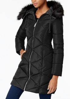 Guess Faux-Fur-Trim Puffer Coat