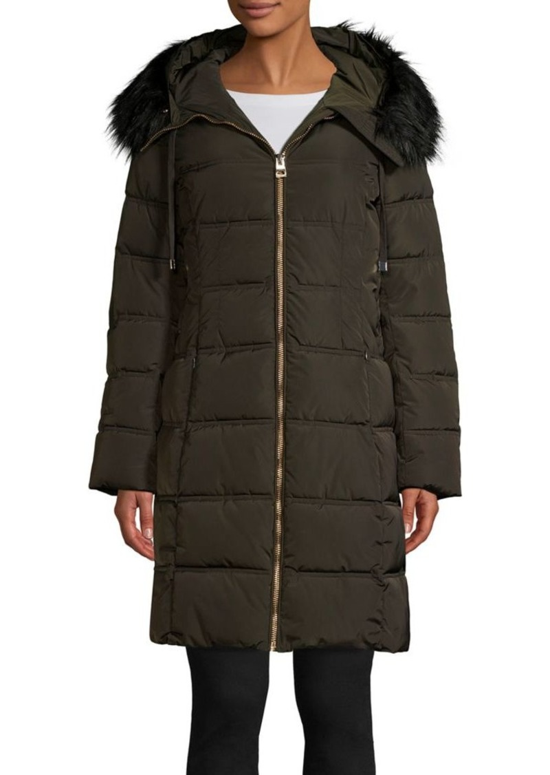 Guess Faux Fur-Trim Puffer Coat