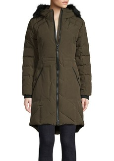 Guess Faux Fur-Trimmed Parka