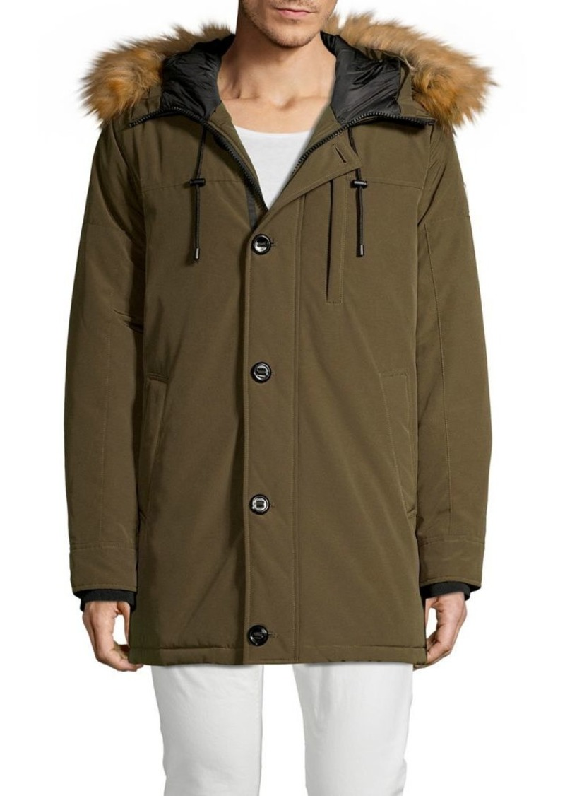 Guess Faux Fur-Trim Parka