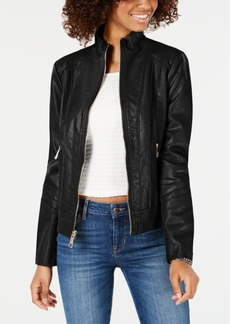 Guess Faux-Leather Moto Jacket