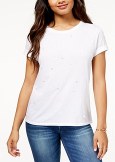 Guess Faux-Pearl-Embellished T-Shirt