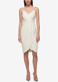 Guess Faux-Wrap Slip Bandage Dress