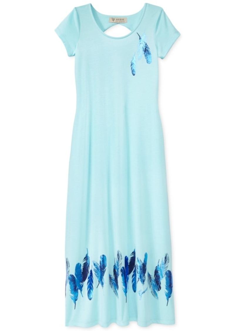 Guess Feather Maxi Dress, Girls (7-16)