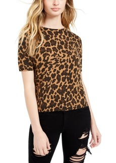 Guess Fitted Animal Print Top