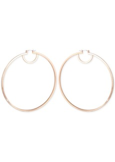 Guess Flat Edge Hoop Earrings