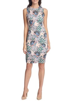 Guess Floral & Striped Sheath Dress