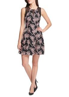 Guess Floral A-line Mini Dress
