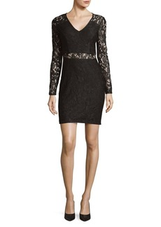 Guess Floral Lace Long-Sleeve Dress