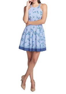 Guess Floral Pleated Halter Dress