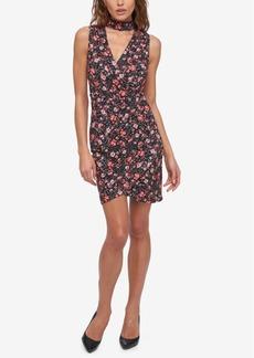 Guess Floral-Print Choker Dress