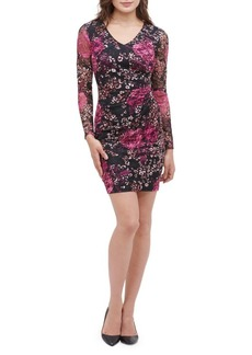 Guess Floral-Print Lace Sheath Dress