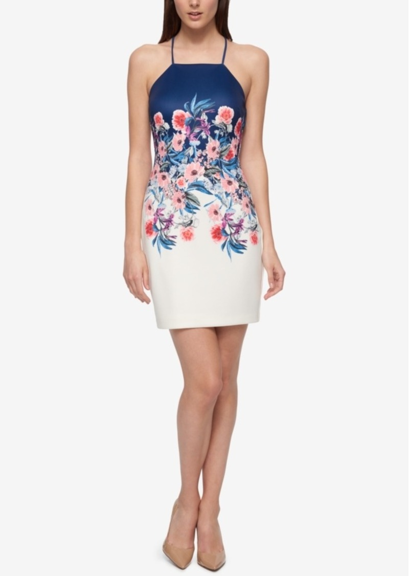 GUESS Guess Floral-Print Open-Back Sheath Dress | Dresses