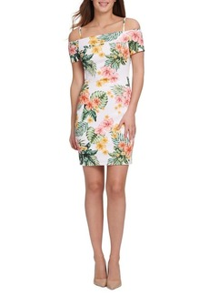 Guess Floral-Print Slim-Fit Sheath Dress