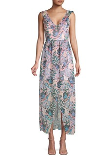 Guess Floral Ruffled High-Low Dress