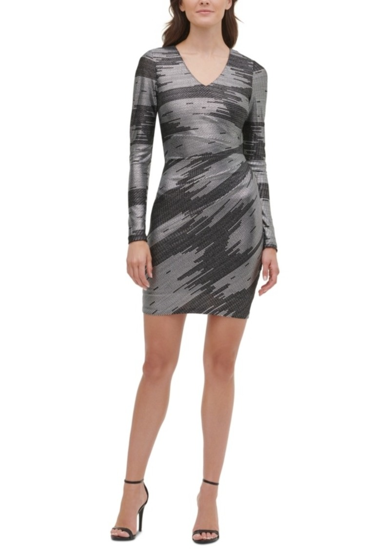 Guess Foil-Knit Sheath Dress