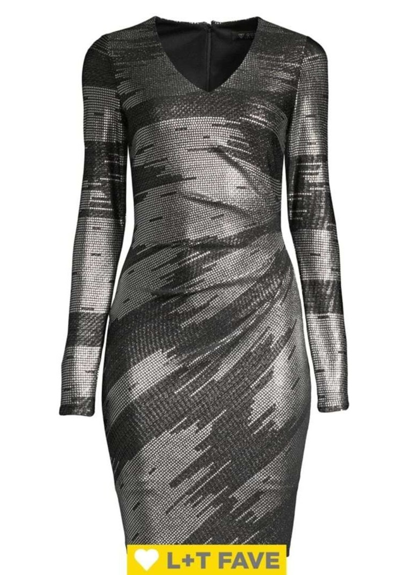 Guess Foiled Knit Bodycon Dress