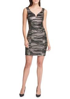 Guess Foiled Pleated Velvet Mini Dress