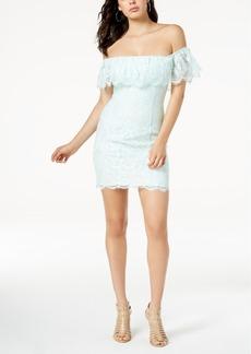 Guess Francine Off-The-Shoulder Lace Dress