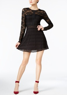 Guess Francis Lace Fit & Flare Dress
