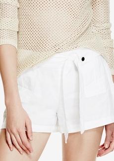 Guess Gabi Linen Camouflage-Print Shorts