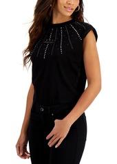 Guess Geliana Rhinestone-Embellished Bodysuit