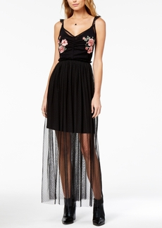 Guess Gertrude Illusion Maxi Dress