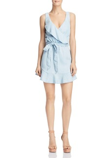 GUESS Gianna Ruffled Chambray Dress