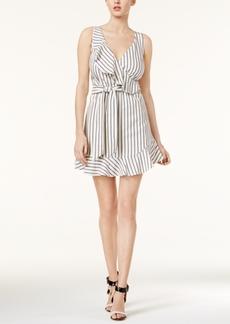 Guess Gianna Striped Ruffled Dress