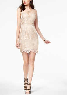 Guess Gianni Embroidered Mesh-Inset Dress