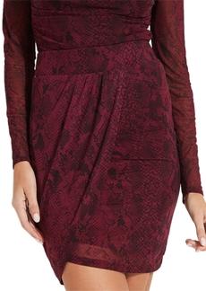 Guess Ginny Snake Print Mini Skirt