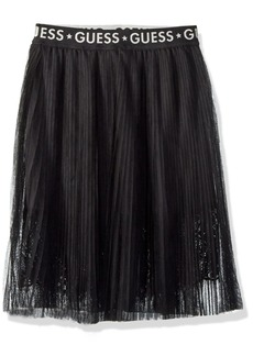 GUESS Girls' Big Aliyah Long Pleated Skirt