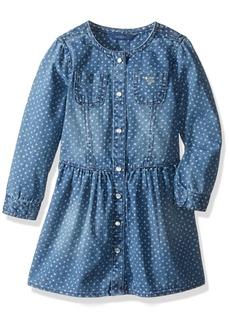 GUESS Little Girls' Star Print Denim Dress
