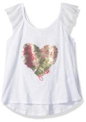 Guess Girls' Little Short Sleeve Heart Sparkle Shirt