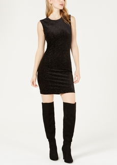 Guess Glitter Sleeveless Open-Back Bodycon Dress