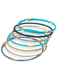 Guess Gold-Tone 7-Pc. Set Thread-Wrapped Bangle Bracelets, Created for Macy's