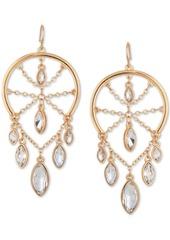 Guess Gold-Tone Crystal Chandelier Earrings