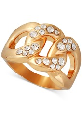 Guess Gold-Tone Pave Link Ring